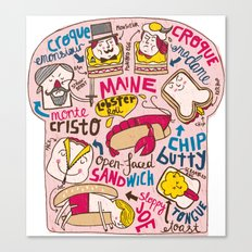 Sandwich Chart Canvas Print