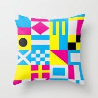 Nautical Alphabet CMYK Throw Pillow