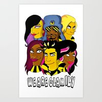 WE ARE GLAMILY (the Simp… Art Print