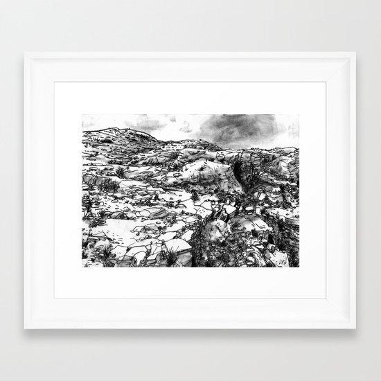 Desert_rocks Framed Art Print