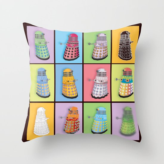 Dalek Dreams Throw Pillow