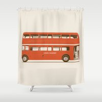 Red London Bus Shower Curtain