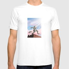 Jump! SMALL White Mens Fitted Tee