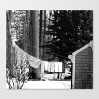 On The Line  Canvas Print