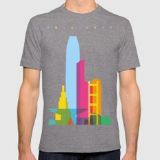Shapes Of Hong Kong. Acc… Mens Fitted Tee Tri-Grey SMALL