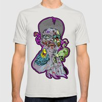Bath Salts Mens Fitted Tee Silver SMALL