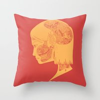 How the Strings are Pulled (Two-tone.) Throw Pillow