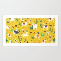 Alpacas & Maracas  Art Print