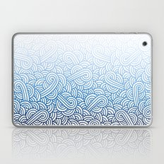 Gradient blue and white swirls doodles Laptop & iPad Skin