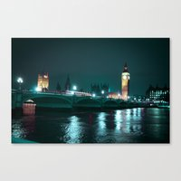Big Ben And Houses Of Pa… Canvas Print