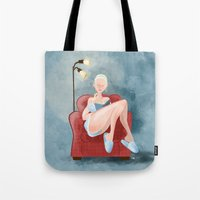 Lazy Day Reading Tote Bag