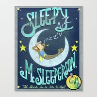 Sleepy McSleeperson Canvas Print