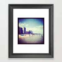 North Shore Chicago  Framed Art Print
