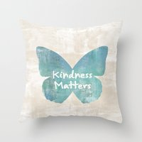 Kindness Matters Butterfly Expressions Throw Pillow
