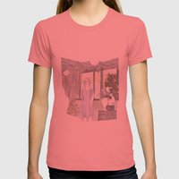 Maria Womens Fitted Tee Pomegranate SMALL