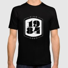 Fine Aged 1984 - Light SMALL Black Mens Fitted Tee