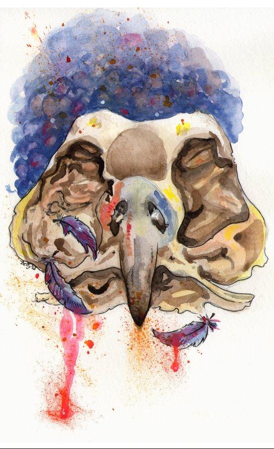 BirdSkull Art Print