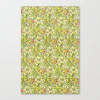 Golden Lily Design Canvas Print