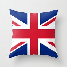 Union Jack Authentic Col… Throw Pillow