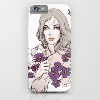 Birth Flower II - Violet iPhone 6 Slim Case
