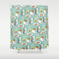 Happy breakfast! Shower Curtain