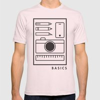 Basics Mens Fitted Tee Light Pink SMALL