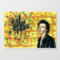 Sid, Eat Your Peas! Canvas Print
