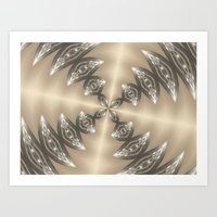 Shimmering Golden Kaleidoscope Art Print