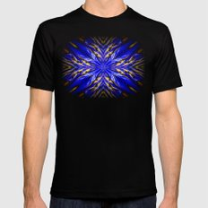 Blue Starburst Black SMALL Mens Fitted Tee