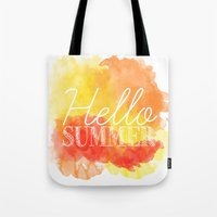 Hello Summer; Tote Bag
