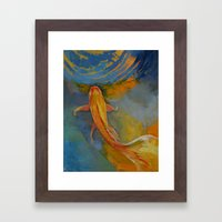 Butterfly Koi Framed Art Print