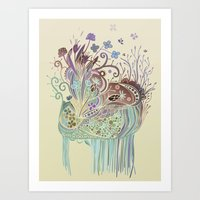 Thistle_tangle Art Print