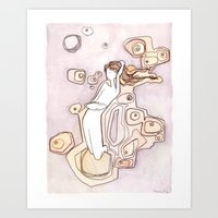 She Was Surrounded By St… Art Print