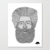 Afro Beard Man Canvas Print