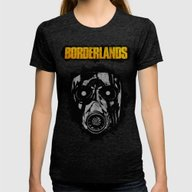 Borderlands Womens Fitted Tee Tri-Black X-LARGE