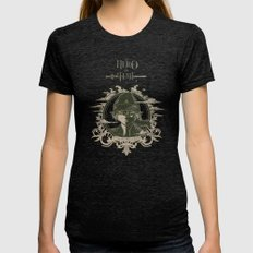Legend Of Zelda Link The… Womens Fitted Tee Tri-Black SMALL