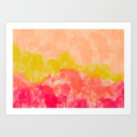 Swimming In Flowers Art Print