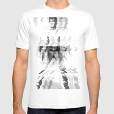 FPJ gray mix Mens Fitted Tee SMALL White