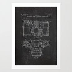 Photo Camera Poster Pate… Art Print