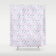 Colored Hearts Shower Curtain