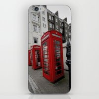 Phone Booths Of London iPhone & iPod Skin