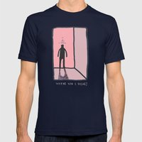 Where Was I Going? Mens Fitted Tee Navy SMALL