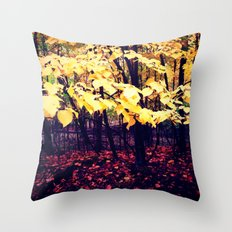 Under The Shade Of Yellow Throw Pillow
