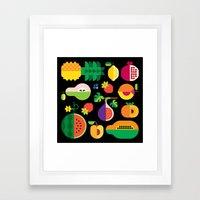 Fruit Medley Black Framed Art Print