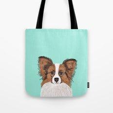Papillon Cute Dog Fluffy… Tote Bag