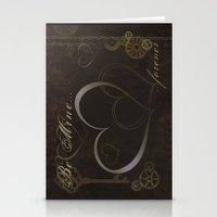 Steampunk Valentine Stationery Cards