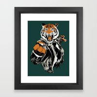 Belligerent Bengal Framed Art Print