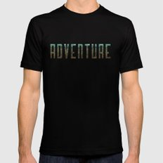Adventure SMALL Mens Fitted Tee Black