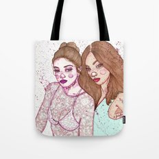 Gigi Hadid & Jourdan Dunn Maybelline NY   Tote Bag