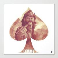 Lemmy Kilmister / Motör… Canvas Print